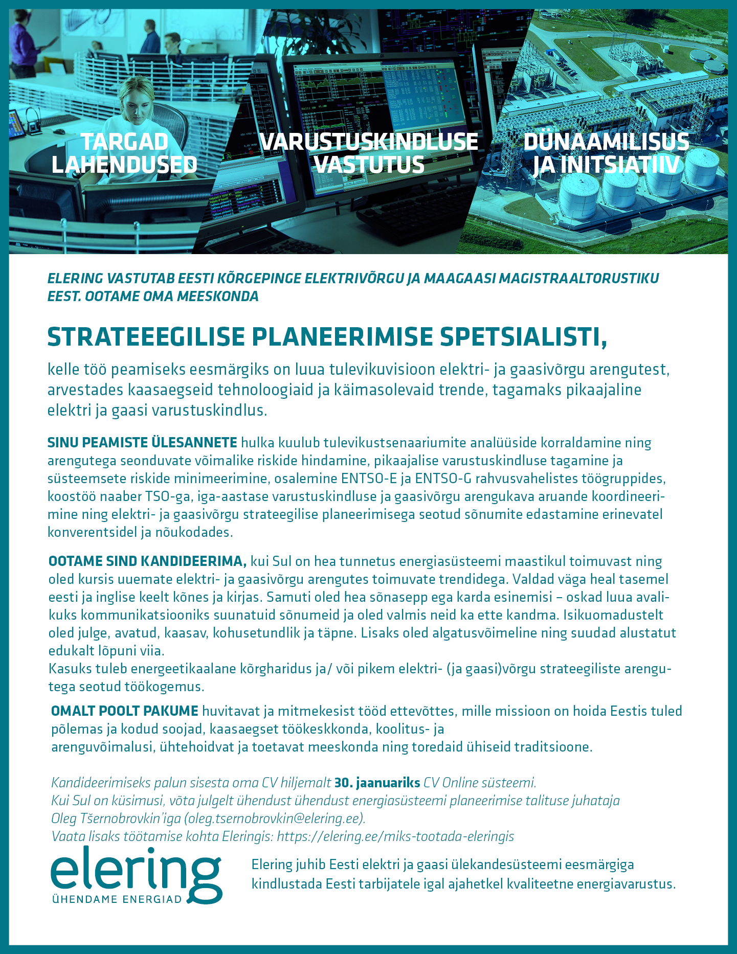 Töökuulutus_strateegilise planeerimise spetsialist